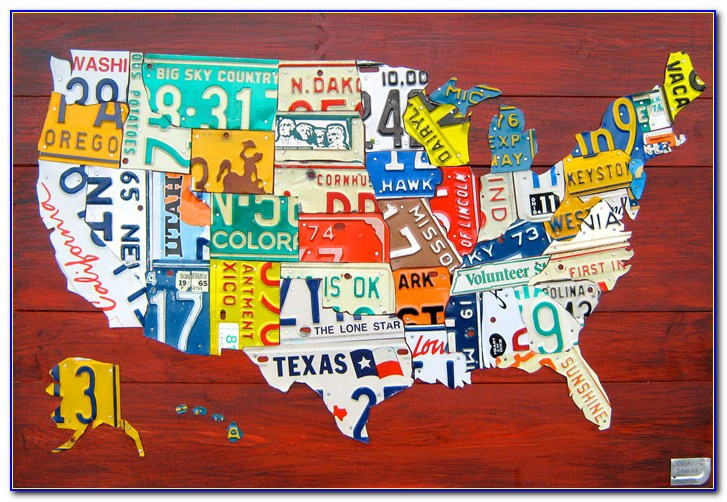Usa Map Number Plates