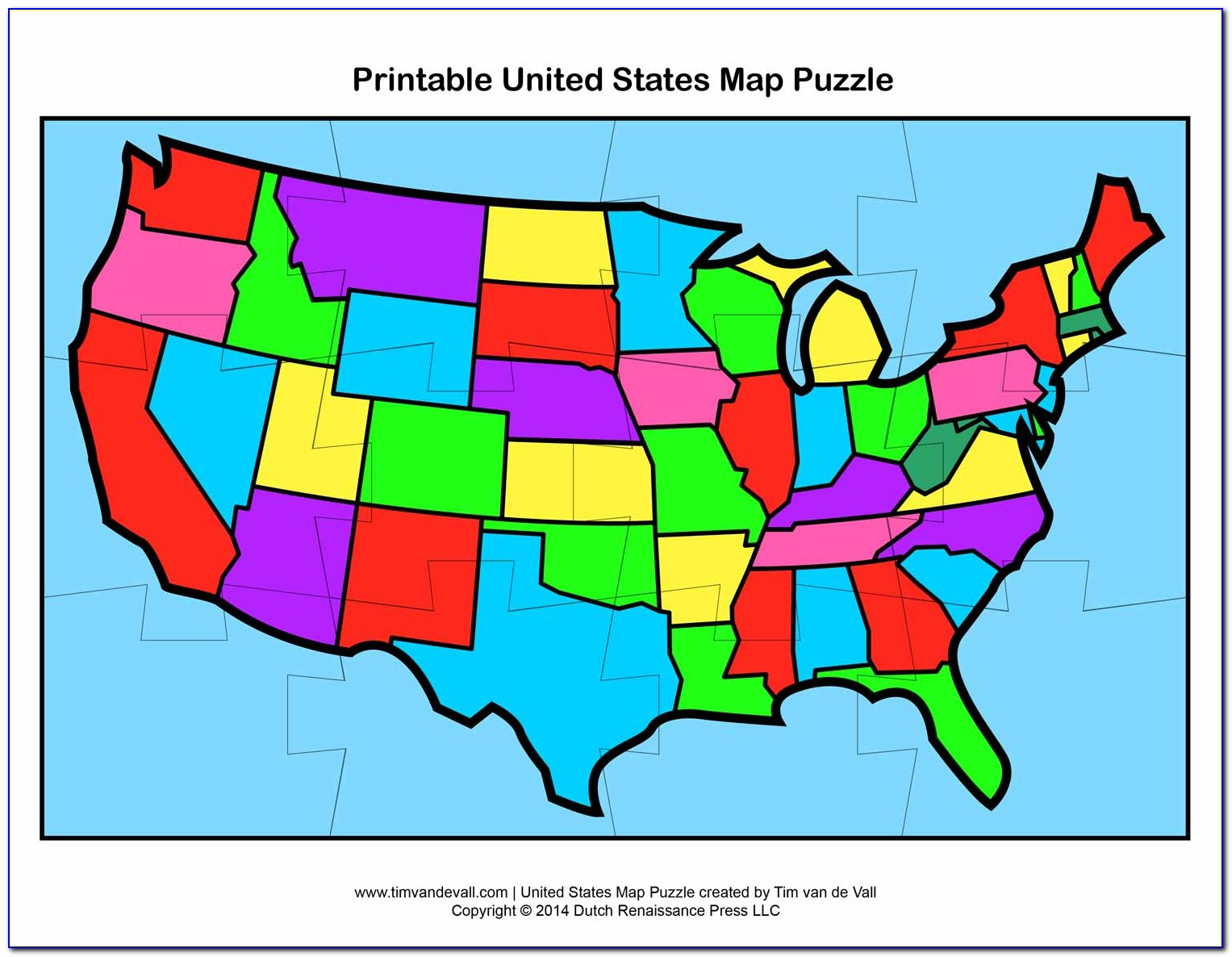 Usa State Map Puzzle Game