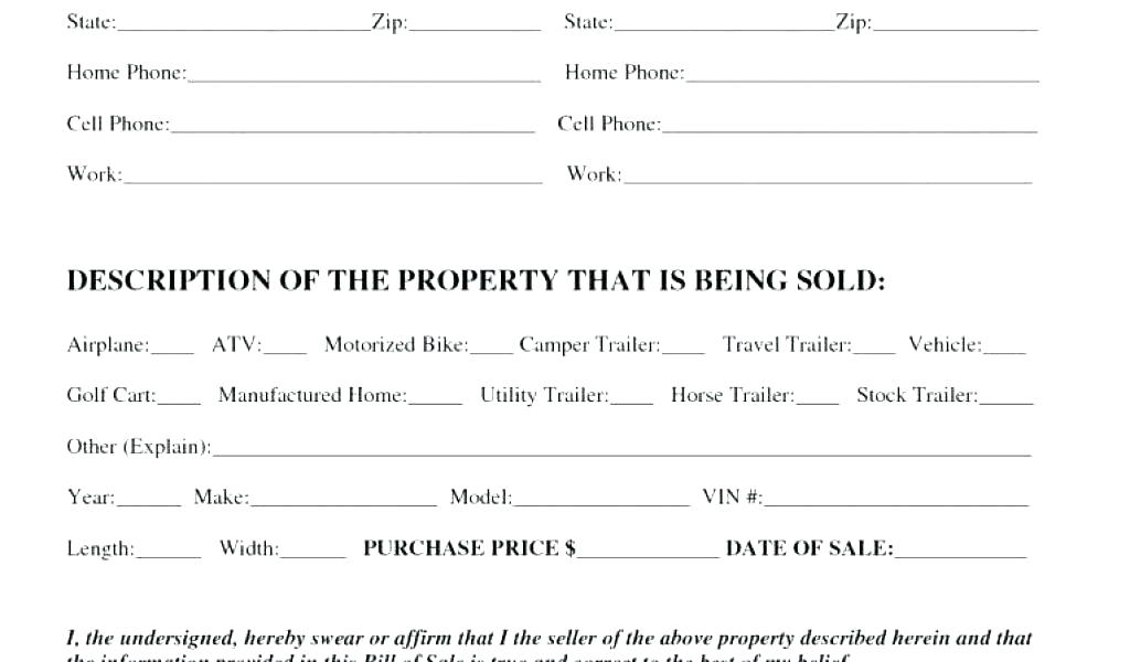 Used Motorcycle Sales Agreement Template