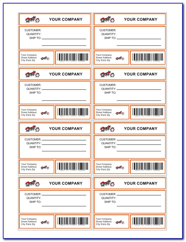 Usps Shipping Label Template Free Download
