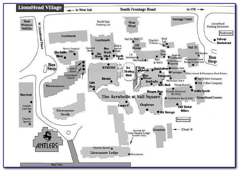 Vail Lionshead Lodging Map