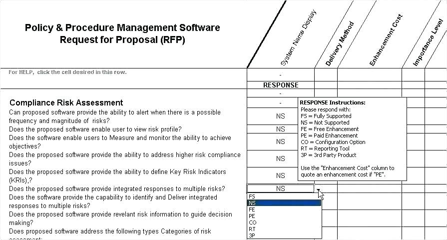 Vendor Management Program Risk Assessment Template
