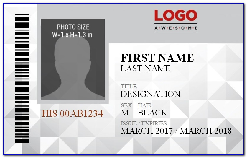 Vertical Id Badge Template Free