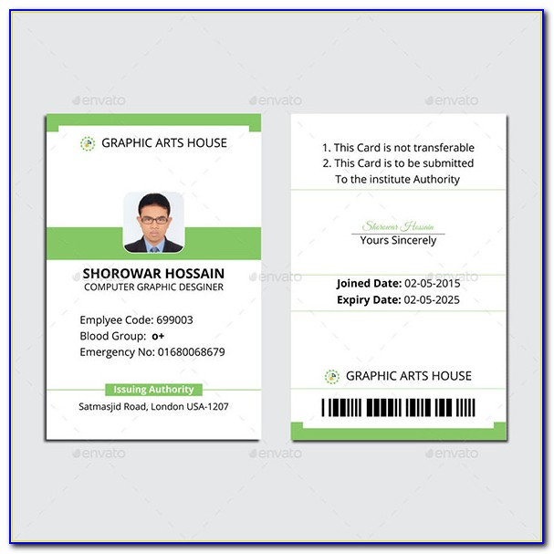 Vertical Id Card Templates Vincegray2014