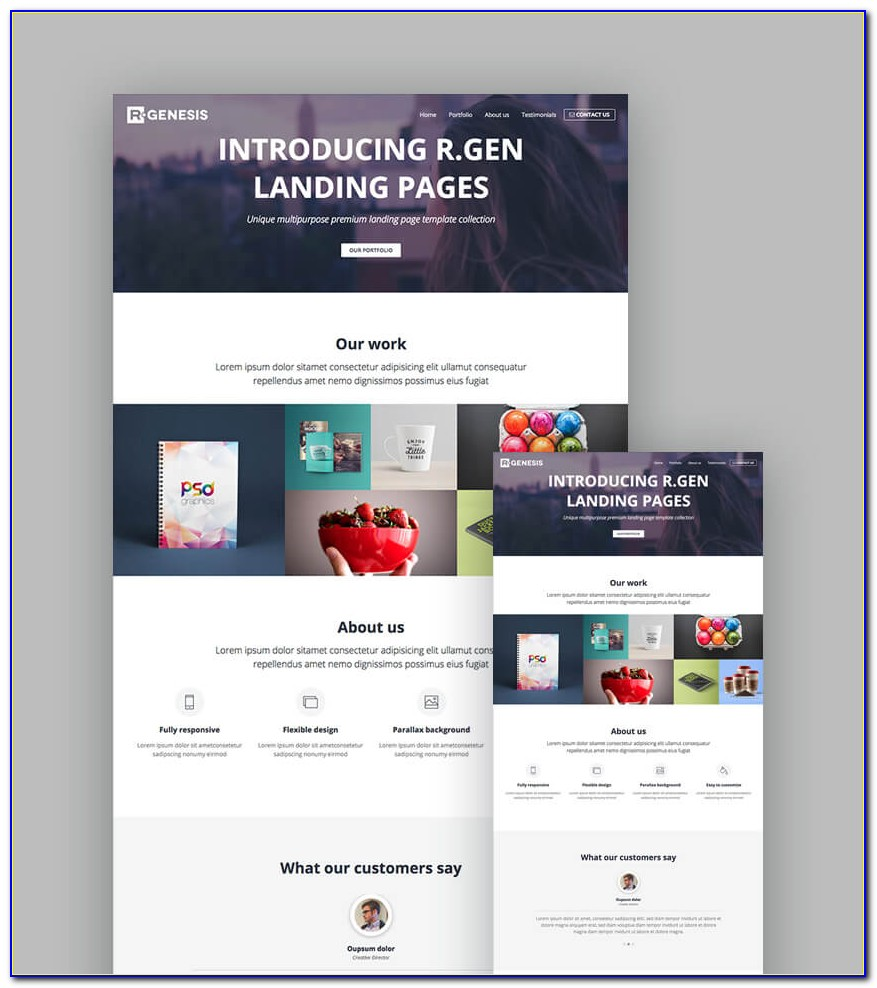 Video Background Landing Page Template