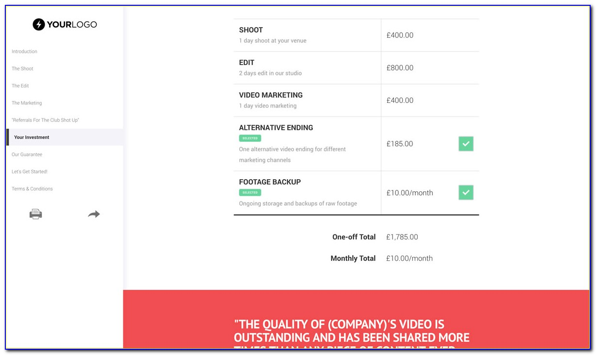 Video Production Proposal Templates