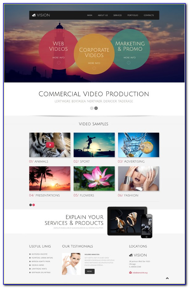 Videography Website Templates Free Download