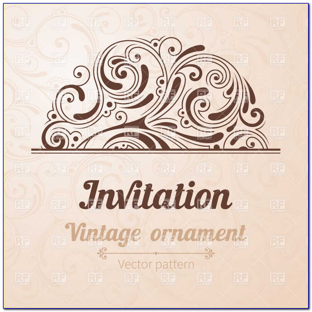 Vintage Birthday Invitation Templates Free Download