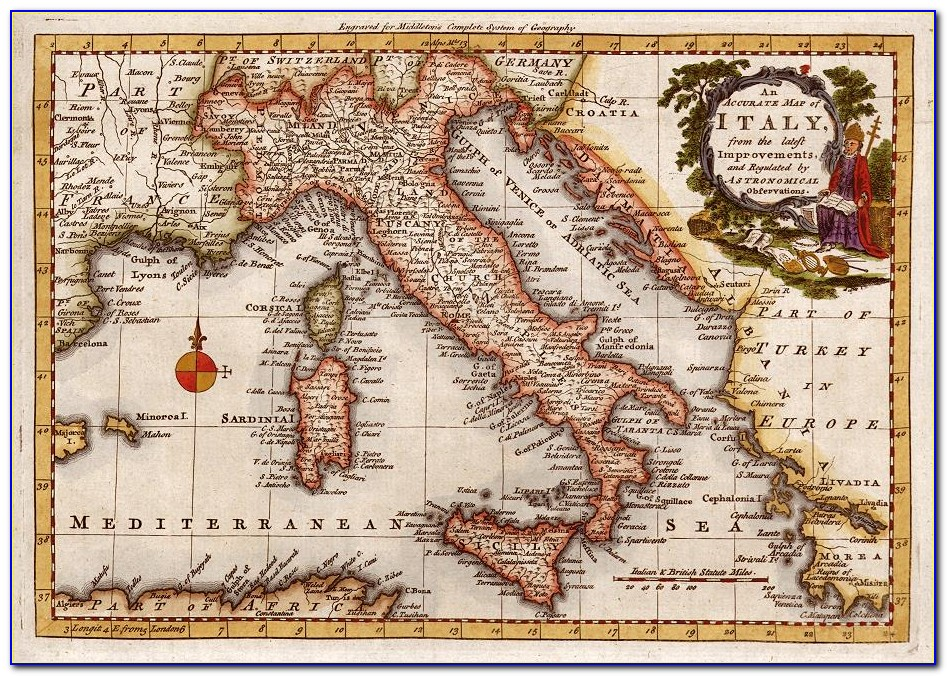 Vintage Maps Of Italy