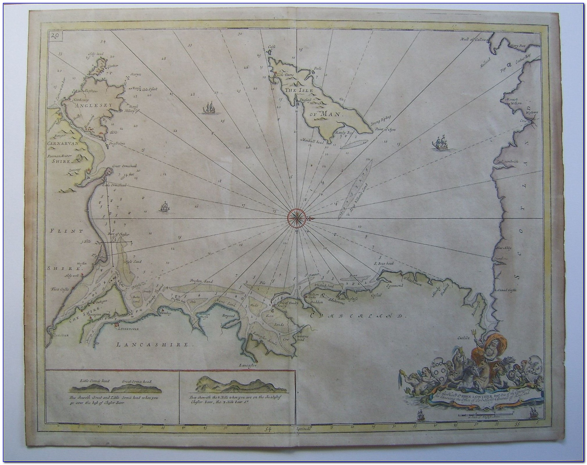 Vintage Nautical Maps Florida