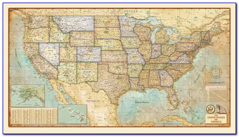 Vintage Wall Maps