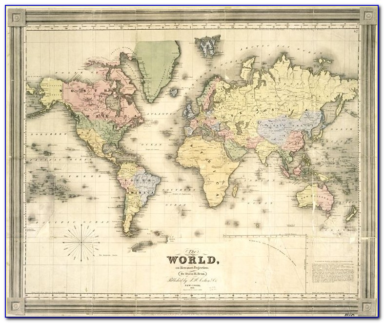 Vintage World Map Digital Download