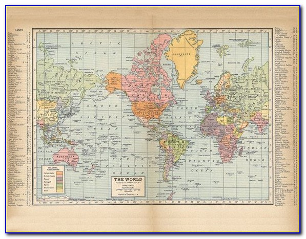 Vintage World Map High Resolution Download
