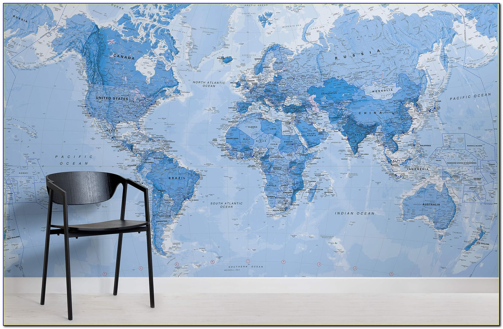 Vintage World Map Wallpaper Mural