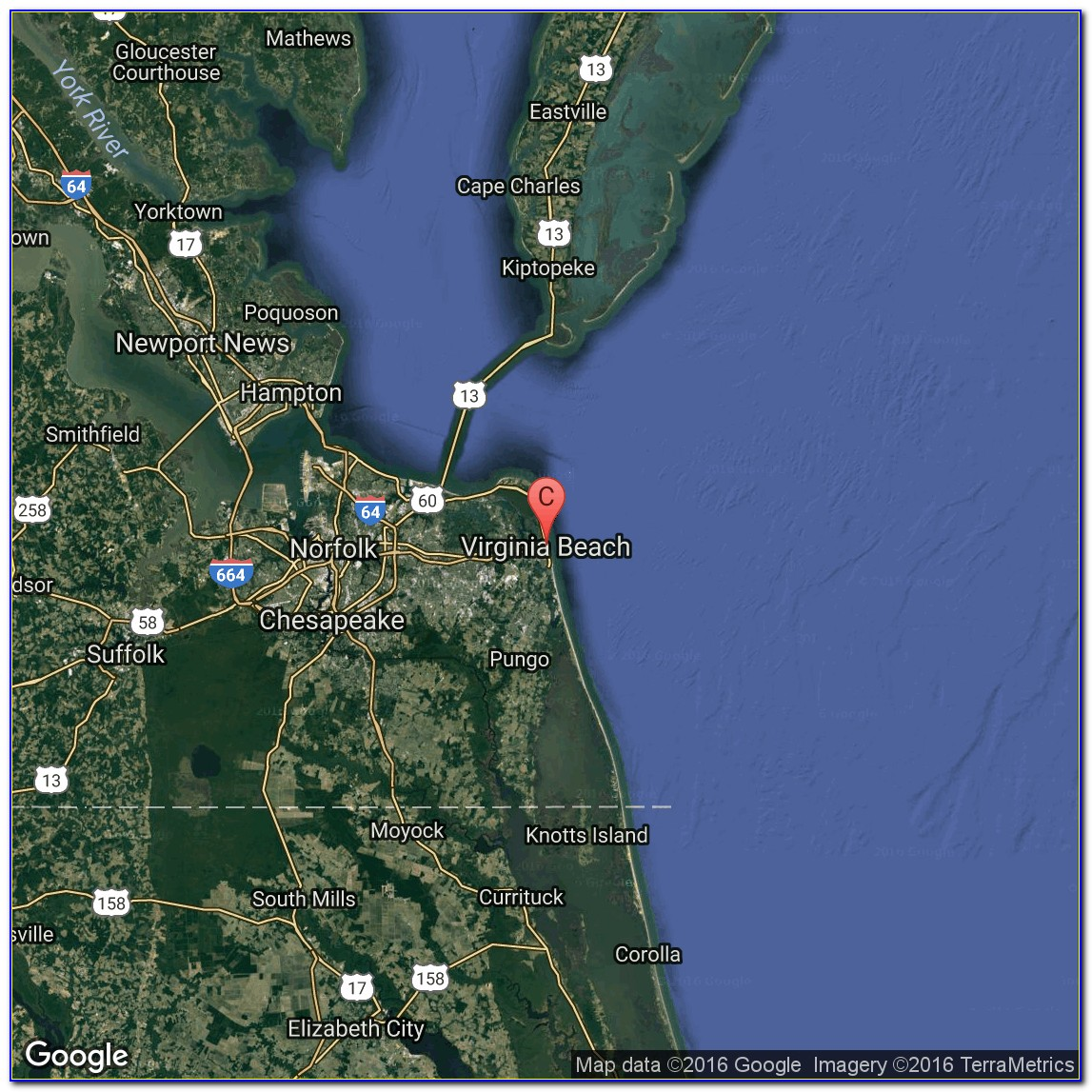Virginia Beach Oceanfront Hotels Map