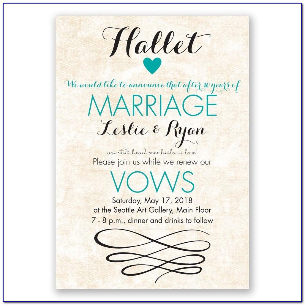 Vow Renewal Invitations Templates