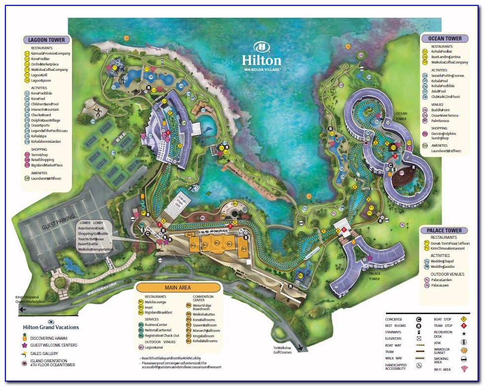 Waikoloa Beach Hotels Map