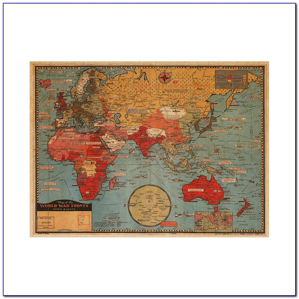 Wall Decoration Map Of The World