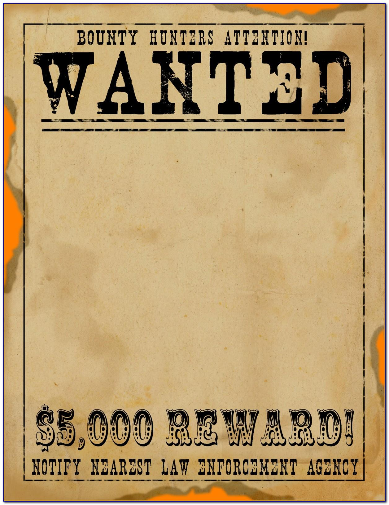 Wanted Poster Birthday Invitation Template Free