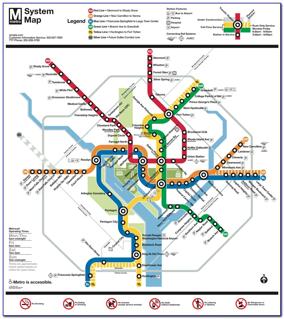 Washington Dc Metro Map And Hotels