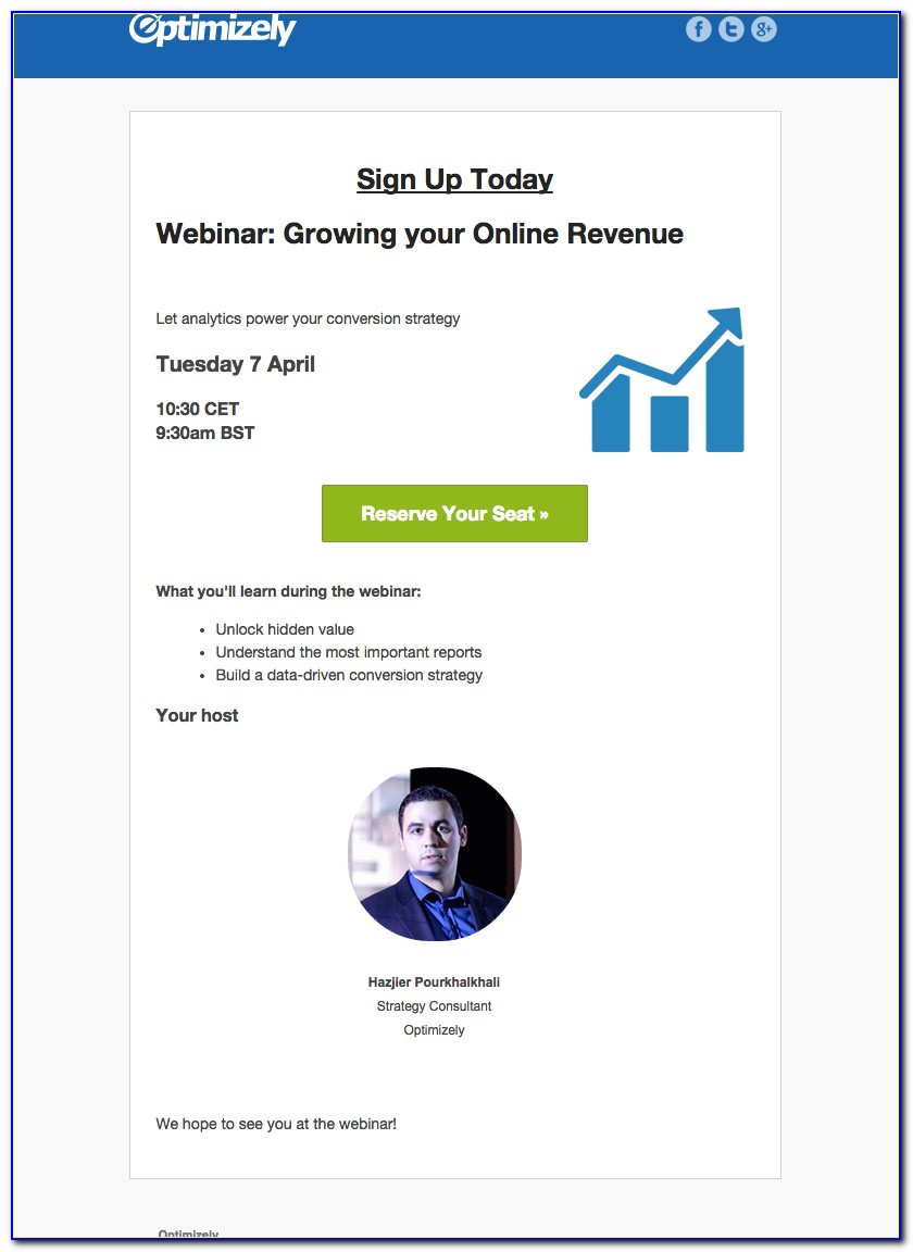 Webinar Invitation Email Template
