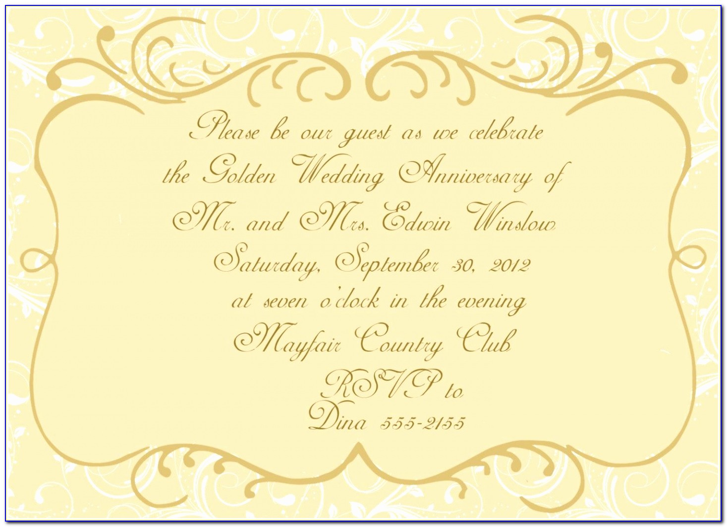 Anniversary Invitations Golden Wedding Anniversary Free Golden Anniversary Invitation Templates Lovely Pdf Word Excel Template Eoyre