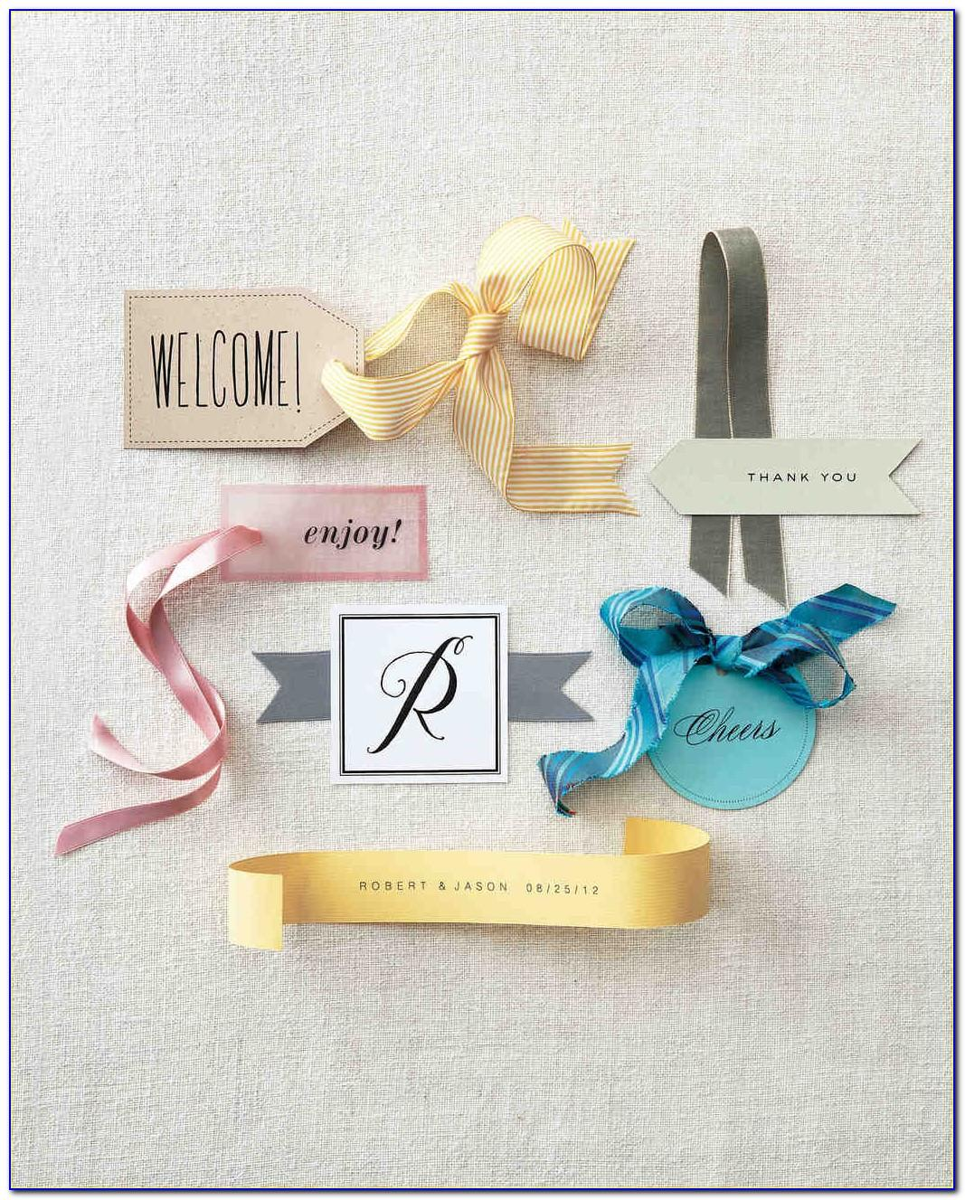 Wedding Favor Gift Tags Template