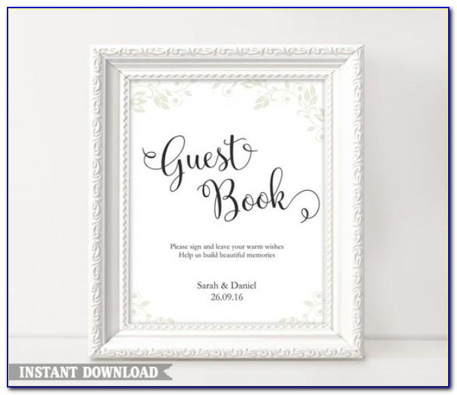 Wedding Guest Book Sign Template