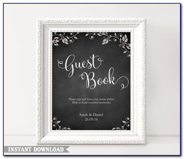 Wedding Guest Book Template Free Download