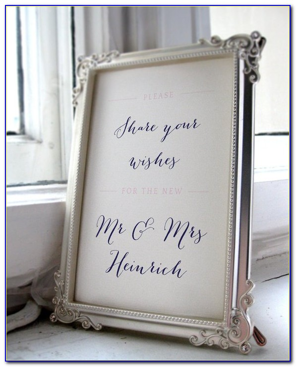 Wedding Guest Book Template Vector