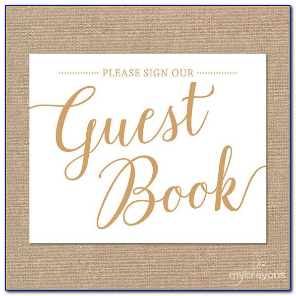 Wedding Guest Book Templates Free