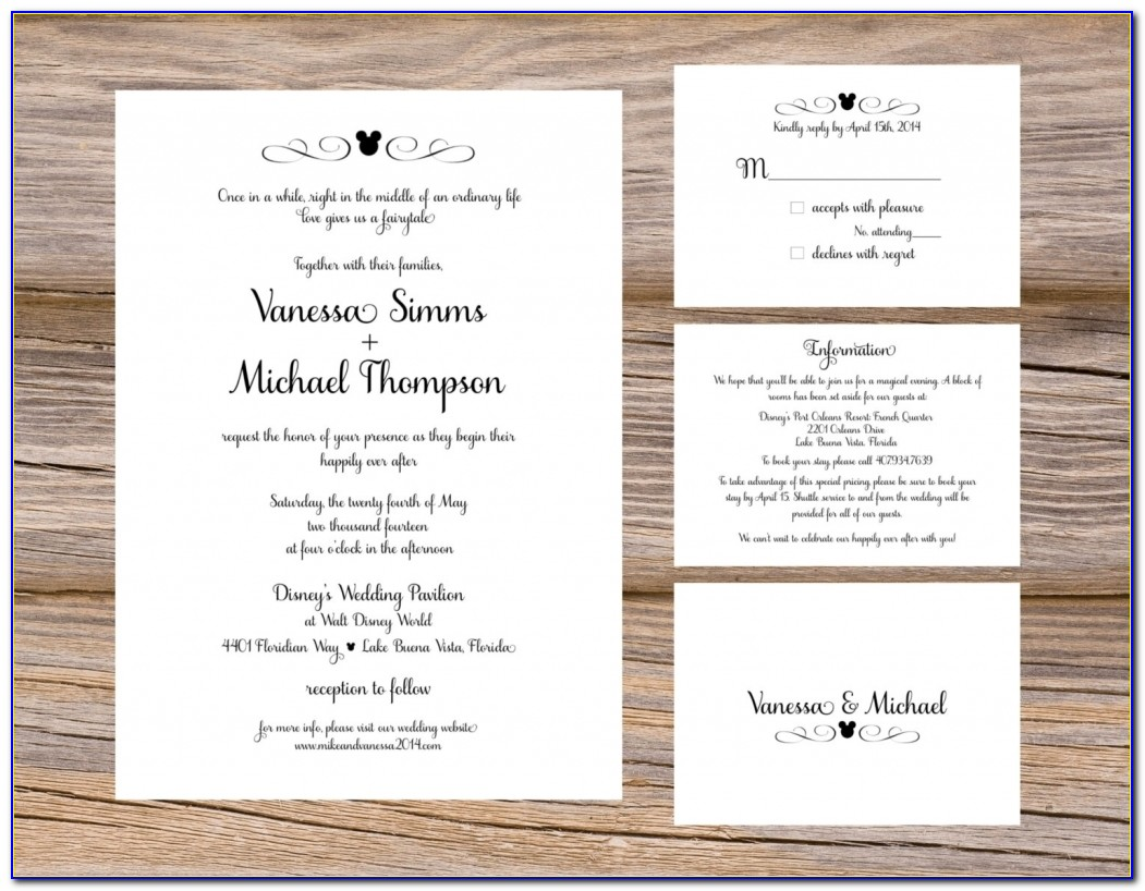 Wedding Invitation Inserts Templates