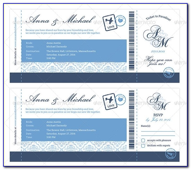 Boarding Pass Invitation Template 25+ Free Psd Format Download With Regard To Boarding Pass Wedding Invitations Template