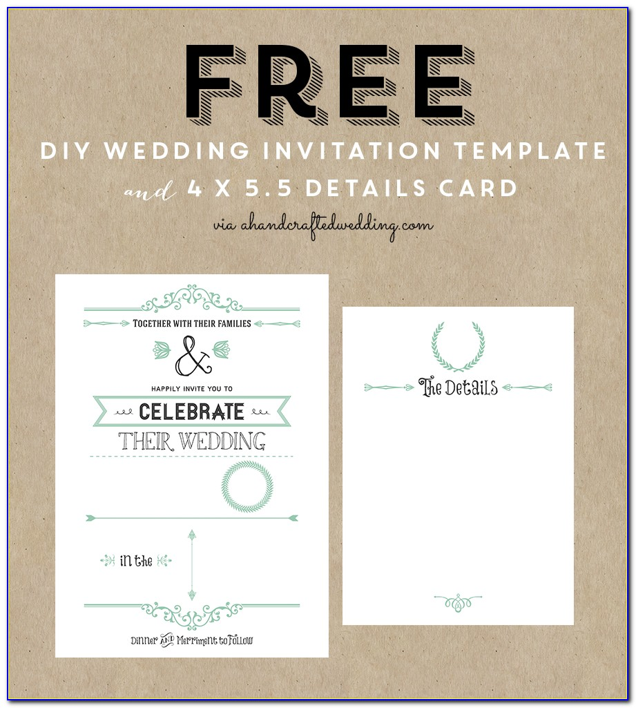 Wedding Invite Template Free Download