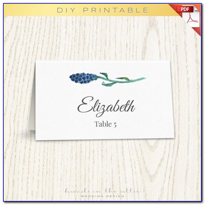 Wedding Name Place Cards Template