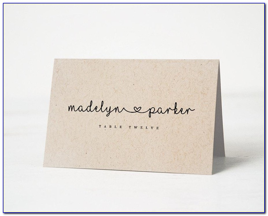 Wedding Name Place Cards