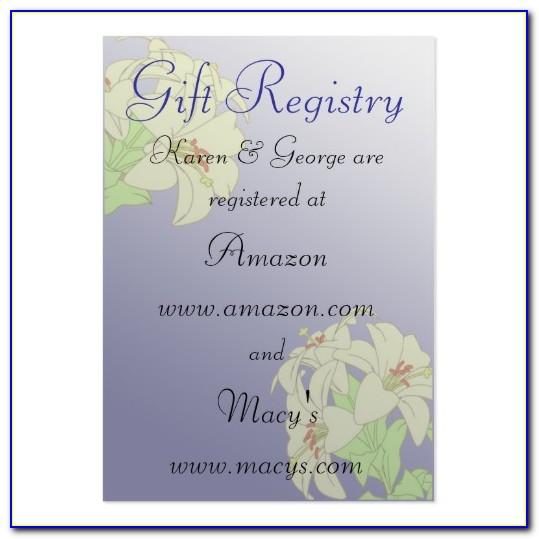 Wedding Registry Announcement Cards Template