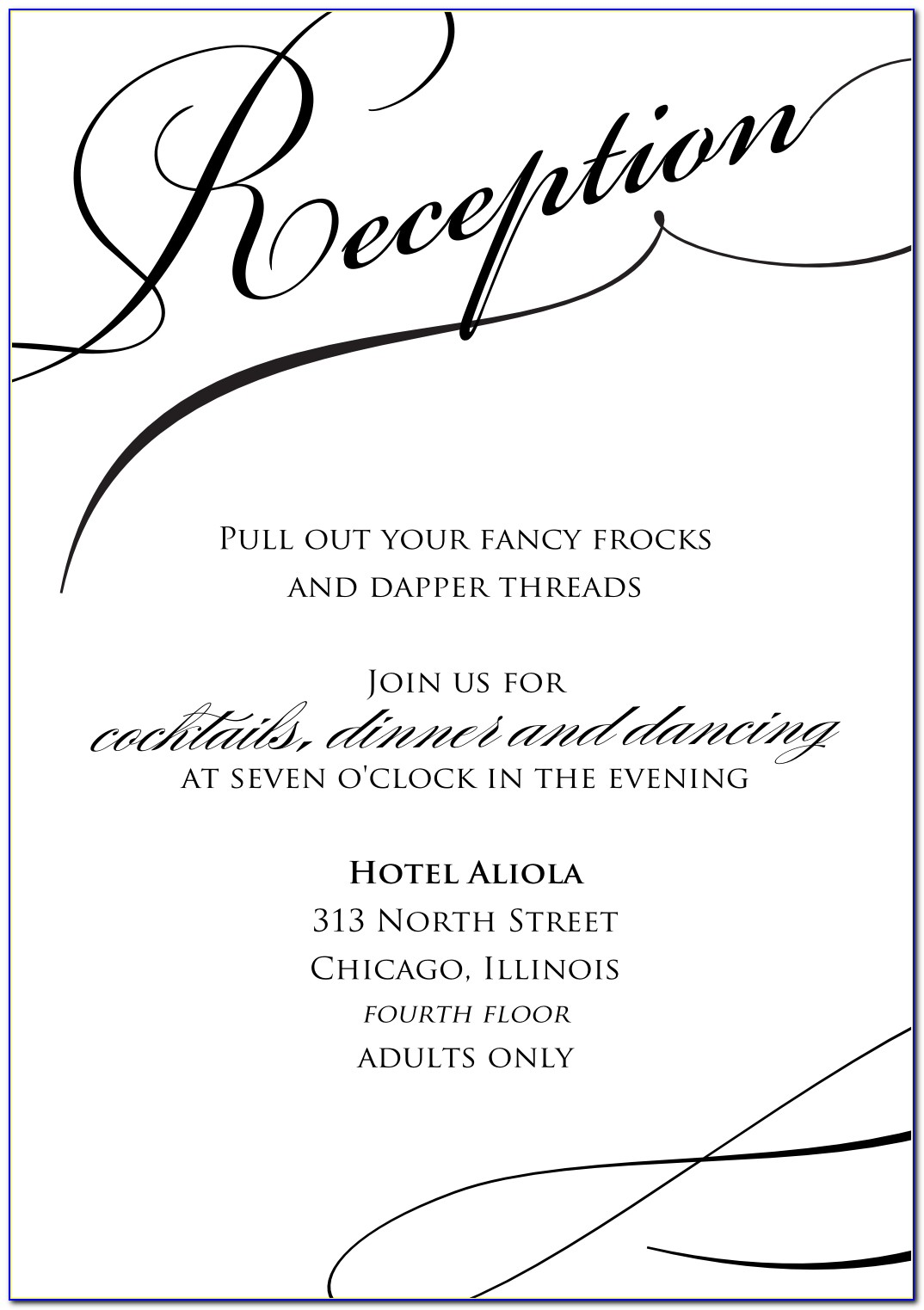 Wedding Rehearsal Dinner Invitations Templates Free