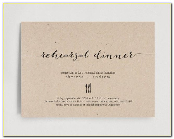 Wedding Rehearsal Invitations Templates Free