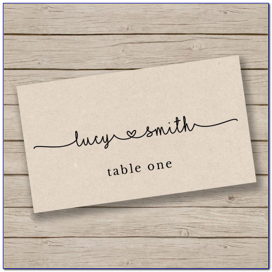 Wedding Seating Chart Cards Template