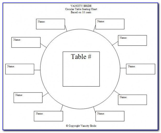 Wedding Table Assignment Template