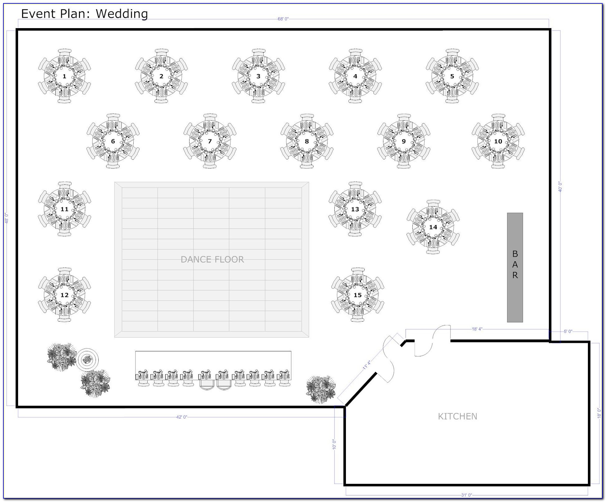 Wedding Reception Table Layout Template