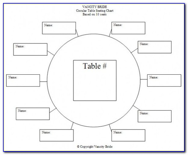 Wedding Table Plan Template Online