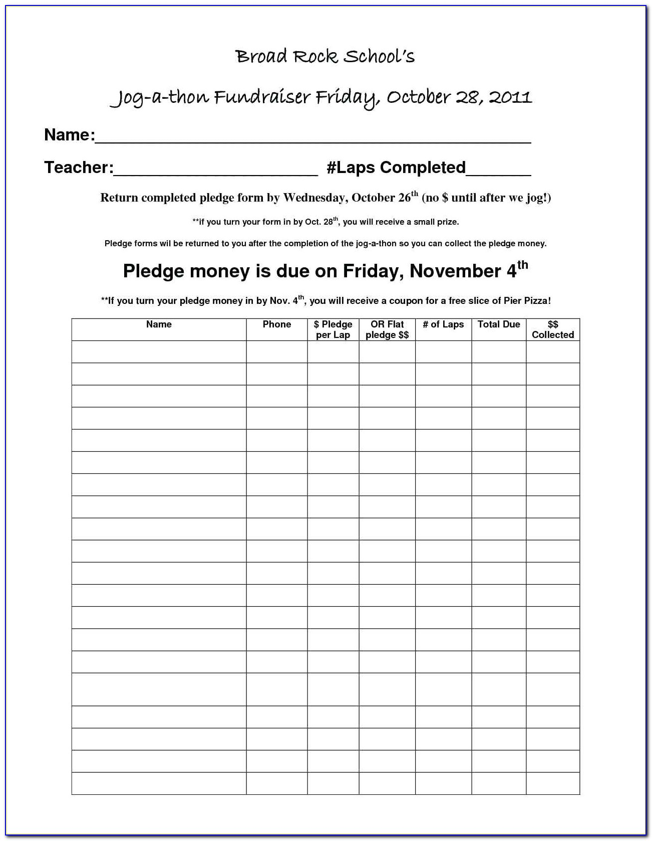Weight Loss Sponsor Form Template Vincegray2014