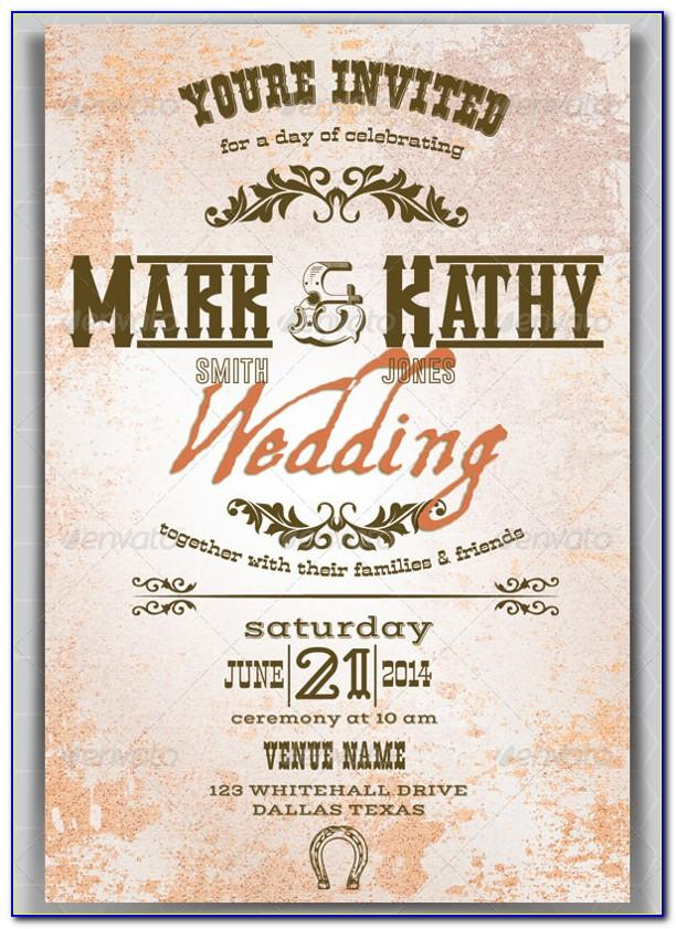 Western Party Invitation Template