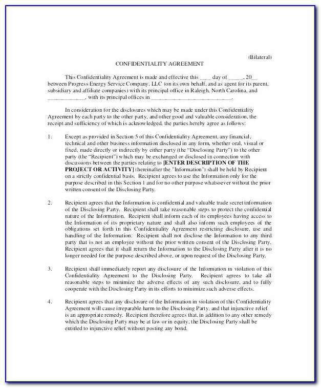 What Is A Non Disclosure Agreement Template