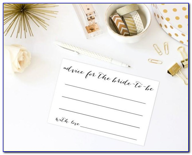 What To Write On Bridal Shower Advice Cards