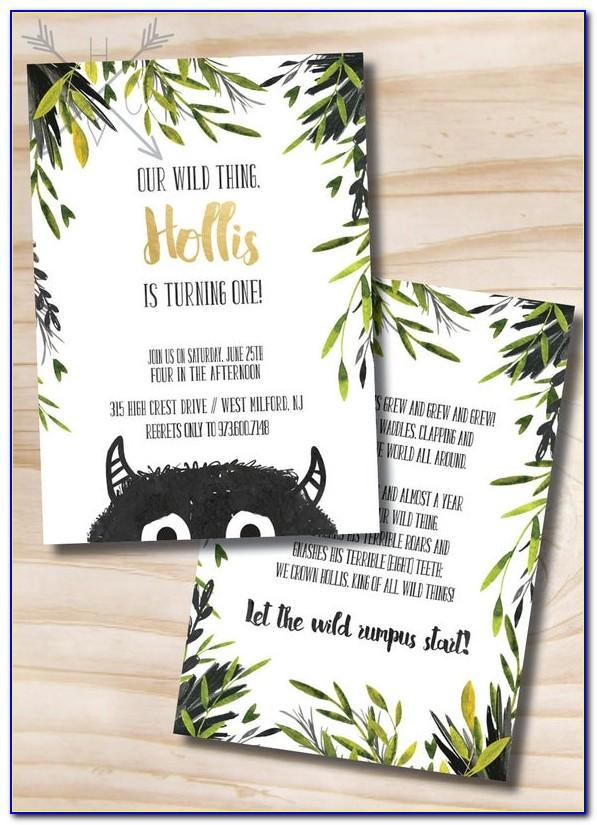 Where The Wild Things Are Birthday Invitation Template Free