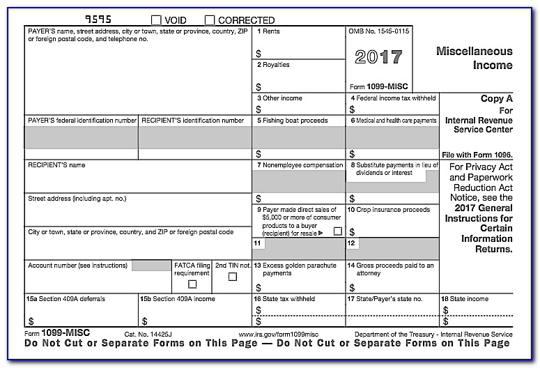 Where To Get Form 1099 Misc 2017