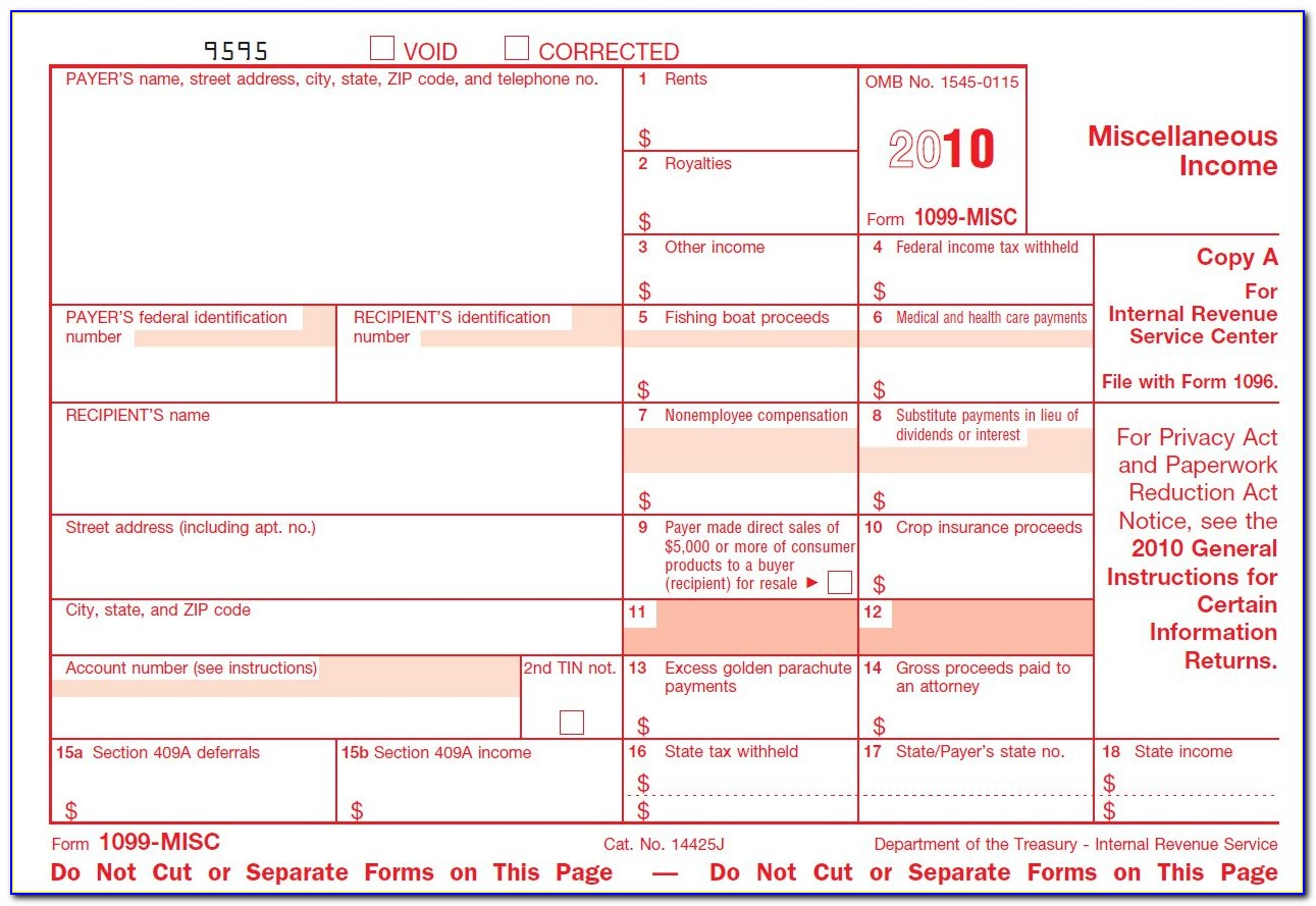 Where To Get Tax Form 1099 Misc